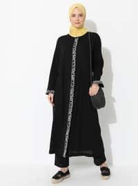 Siyah - Astarsız Kumaş - Pamuk - Takım Elbise
