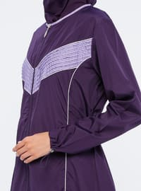 Purple - Fully Lined - Fully Covered Swimsuits