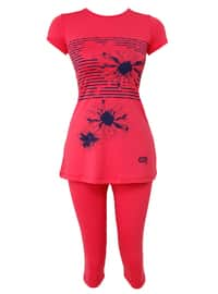 Coral - Multi - Fully Lined - Half Covered Switsuits