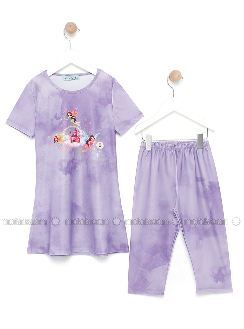 Lilac - Multi - Half Covered Switsuits