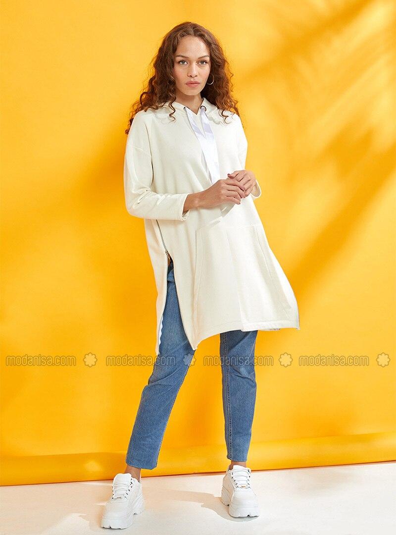 Cream - Cotton - Tracksuit Top