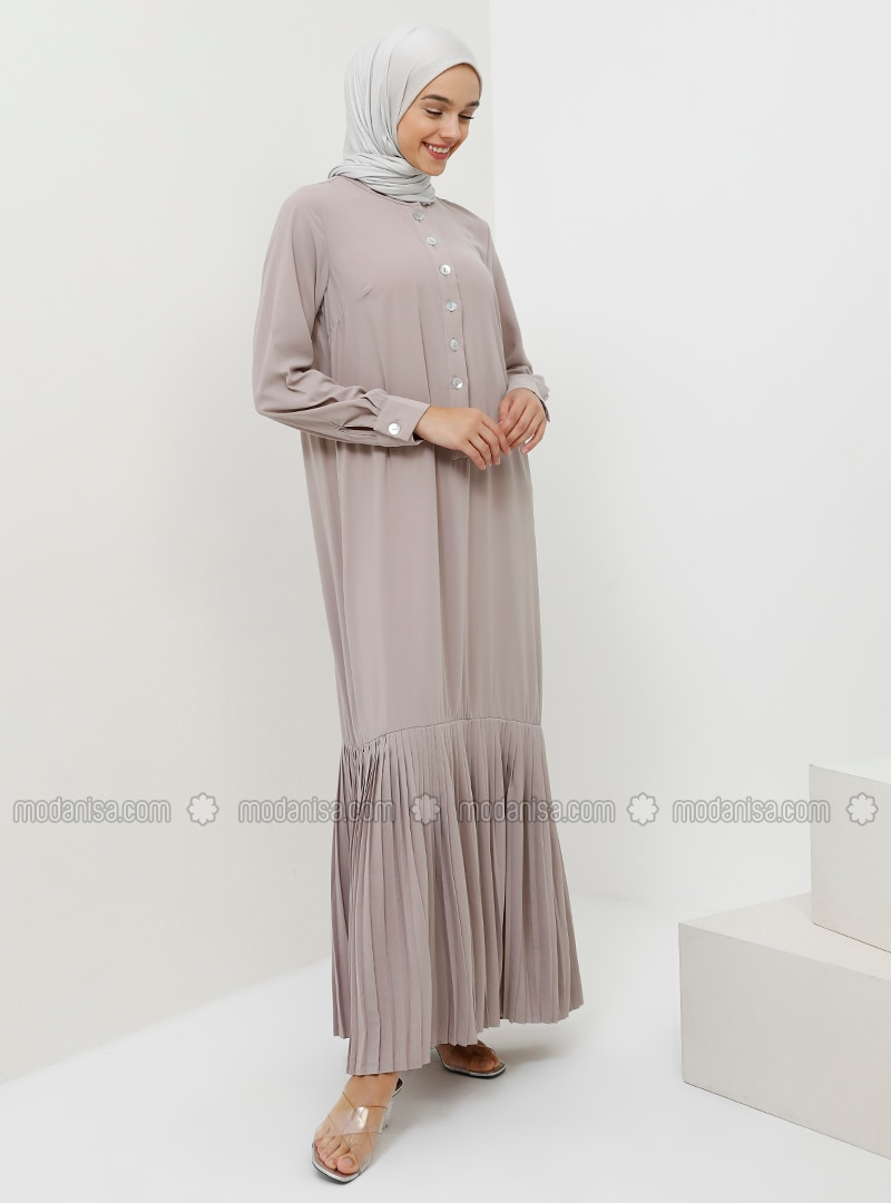 Mink - Button Collar - Unlined - Dress