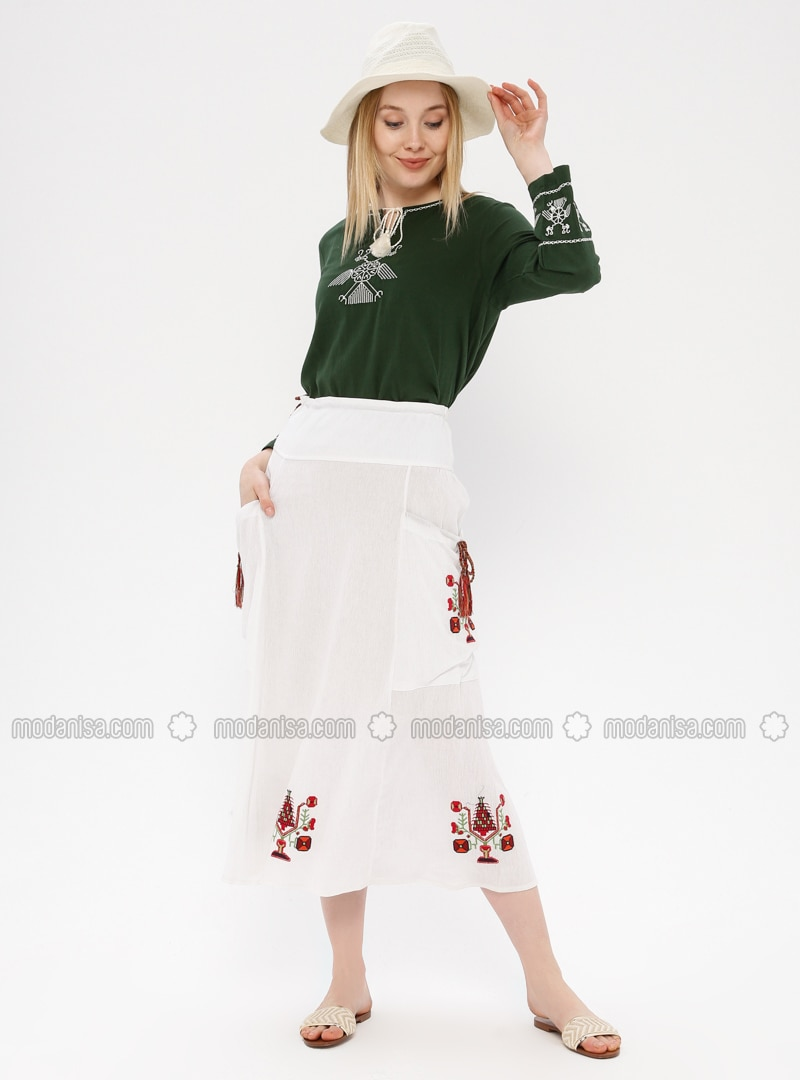 White - White - Ecru - Unlined - Cotton - White - Ecru - Unlined - Cotton - White - Ecru - Unlined - Cotton - White - Ecru - Unlined - Cotton - White - Ecru - Unlined - Cotton - Skirt