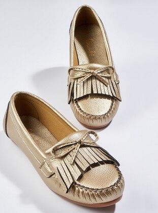 Gold - Flat - Sandal - Shoes