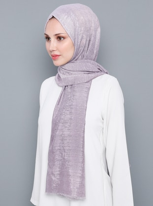 Lilac - Plain - %100 Silk - Shawl