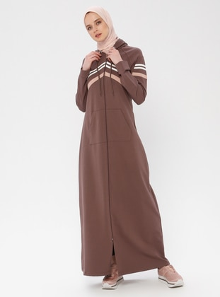Brown - Unlined - Cotton - Abaya