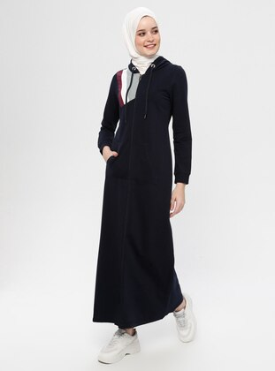 Navy Blue - Unlined - Cotton - Abaya