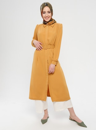 Yellow - Unlined - Button Collar - Topcoat