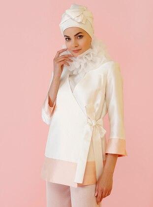 Ecru - Fully Lined - Shawl Collar - Jacket