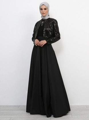 Fully Lined - Black - Evening Skirt - Refka