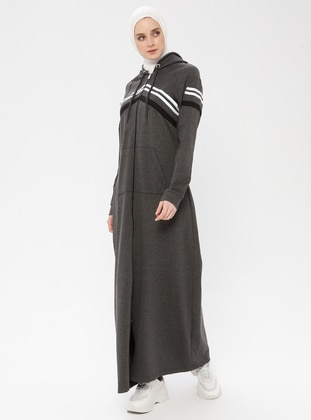 Anthracite - Unlined - Cotton - Abaya