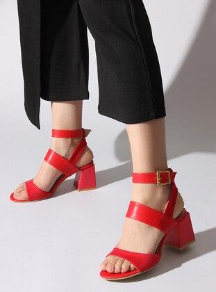 Red - High Heel - Sandal