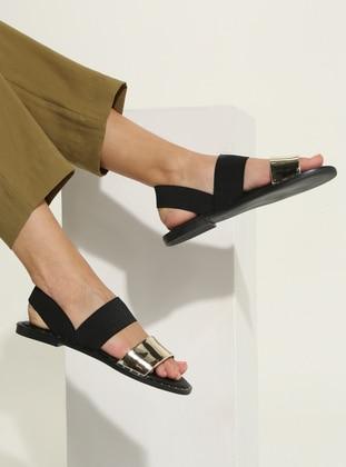Lamé - Gold - Sandal - Sandal