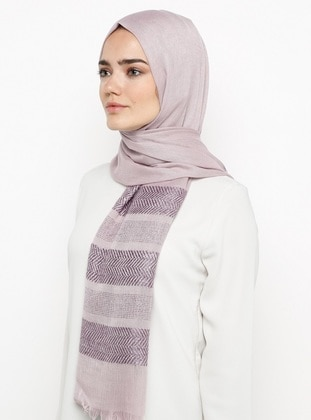 Lilac - Plain - Pashmina - Viscose - Shawl