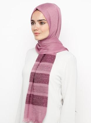 Pink - Plain - Pashmina - Viscose - Shawl