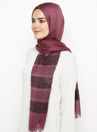 Cherry - Plain - Pashmina - Viscose - Shawl