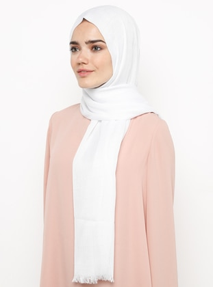 White - Plain - Plaid - Pashmina - Viscose - Shawl