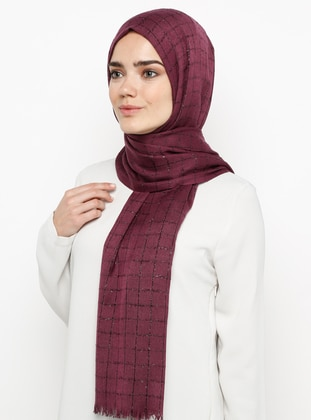 Cherry - Plain - Plaid - Pashmina - Viscose - Shawl