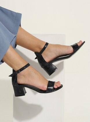 Navy Blue - High Heel - Shoes