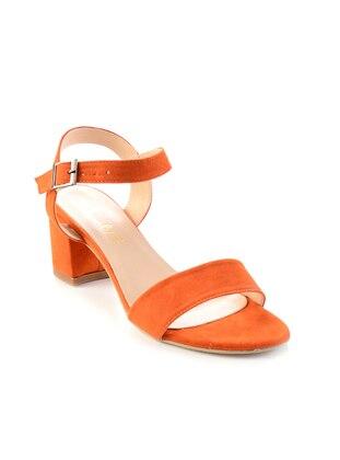 Orange - High Heel - Sandal - Shoes