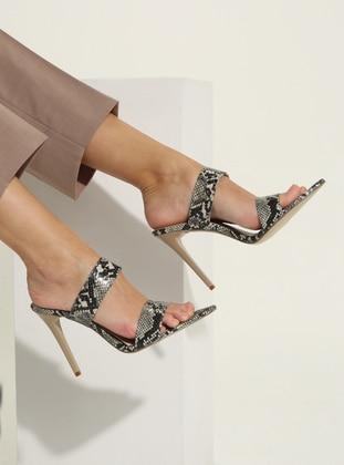 Beige - High Heel - Sandal - Slippers
