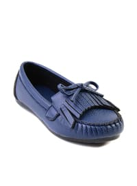 Navy Blue - Flat - Sandal - Shoes
