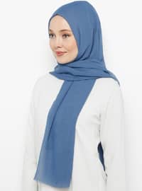 Blue - Plain - Shawl