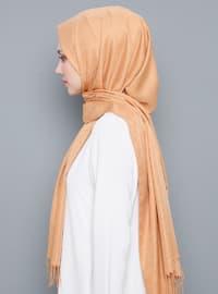 Gold - Plain - %100 Silk - Shawl