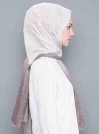 Mink - Plain - %100 Silk - Shawl
