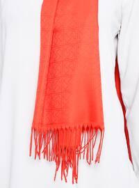 Coral - Plain - %100 Silk - Shawl