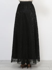 Fully Lined - Black - Evening Skirt