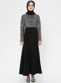 Silver tone - Unlined - Crew neck - Muslim Evening Dress