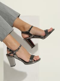 Metallic - High Heel - Shoes