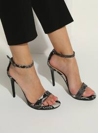 Black - High Heel - Sandal - Shoes