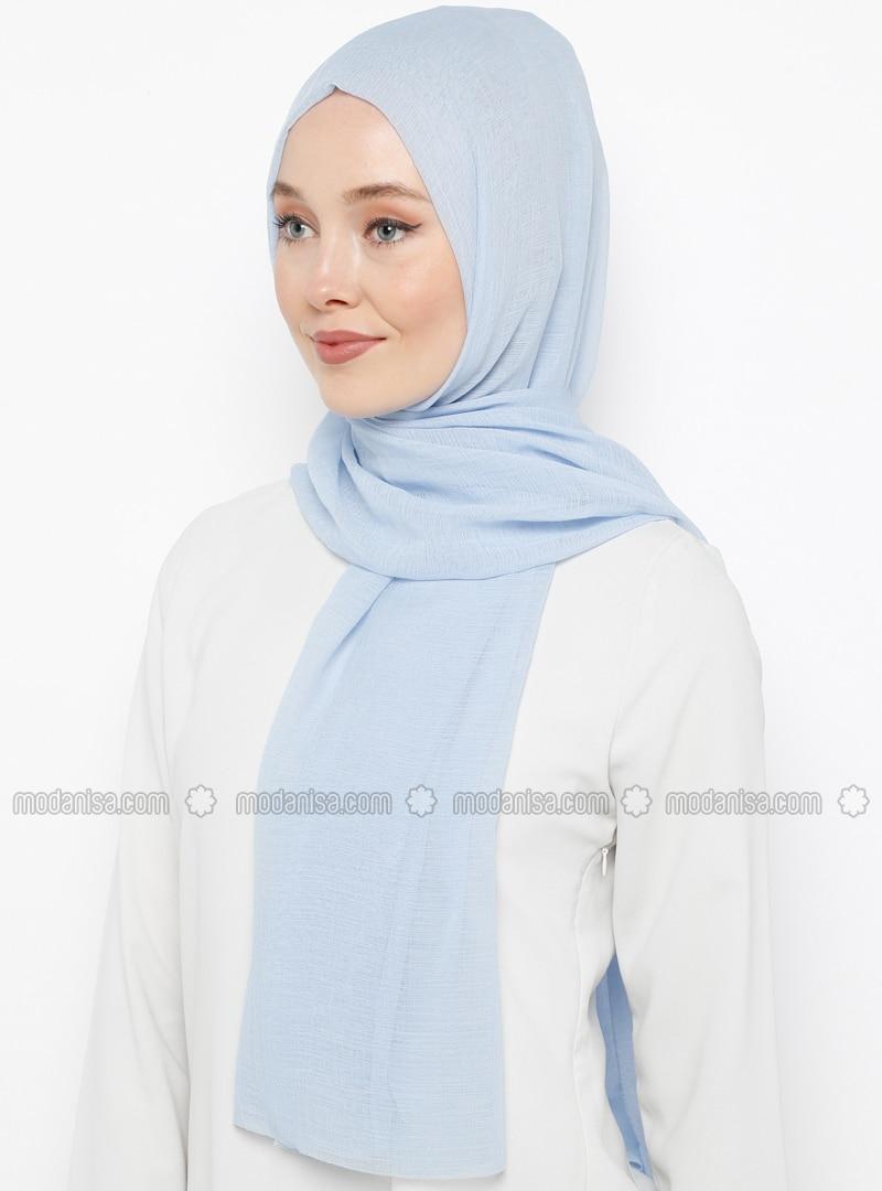 Baby Blue - Plain - Shawl