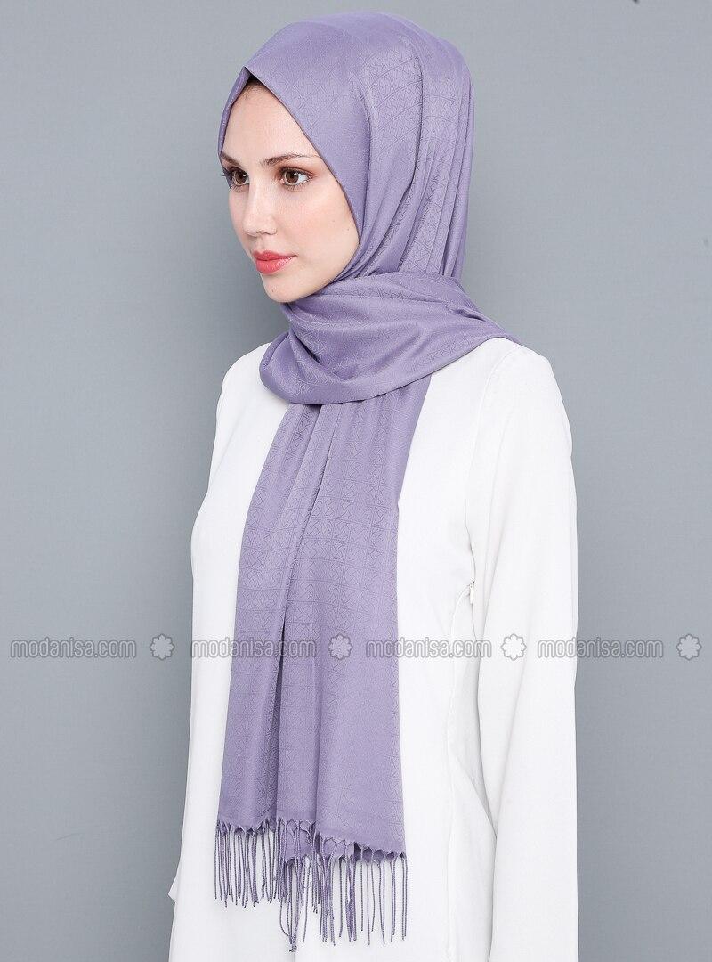 Lilac - Plain - %100 Silk - Shawl