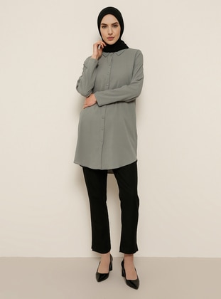Gray - Point Collar - Tunic