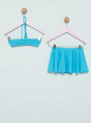 Turquoise - Girls` Swimsuit