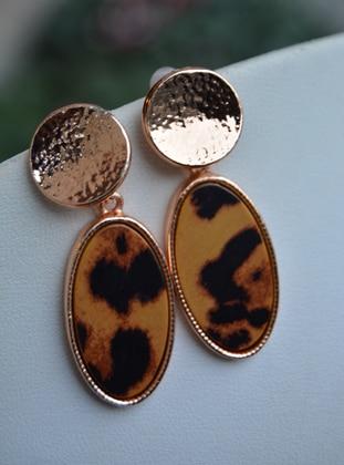 Brown - Leopard - Earring