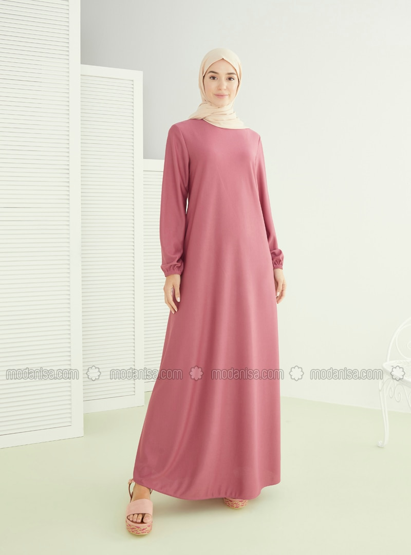 Dusty Rose - Hac ve Umre - Crew neck - Unlined - Dress