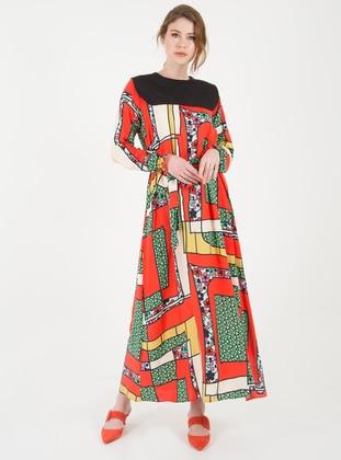 2d4ed0eed243c Kırmızı Tesettür Elbise Modelleri ve Fiyatları - Modanisa.com