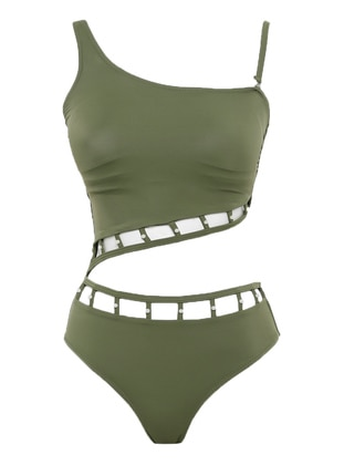 Green - Half Covered Switsuits
