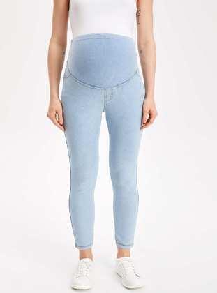 Blue - Maternity Pants