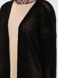 Black - Shawl Collar - Acrylic - Cardigan