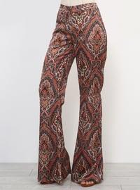 Tan - Multi - Pants