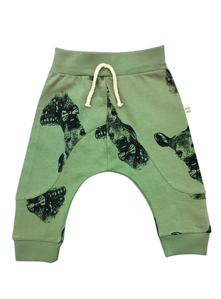 Multi - Cotton - Green - Baby Pants