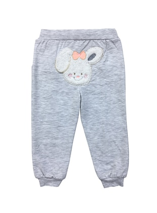 Cotton - Unlined - Gray - Baby Pants