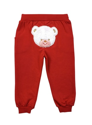 Cotton - Unlined - Red - Baby Pants