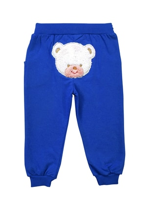 Cotton - Unlined - Blue - Baby Pants