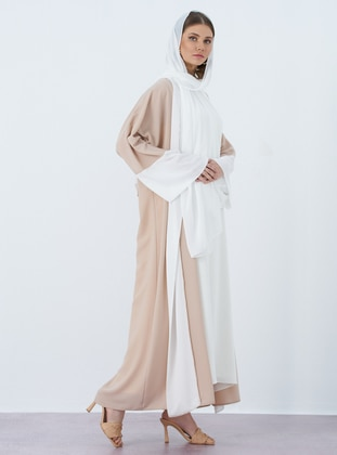 Minc - Unlined - V neck Collar - Abaya